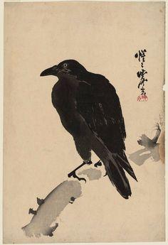 河鍋暁斎: Black Crow - ボストン美術館  絵師: 河鍋暁斎 作品名: Black