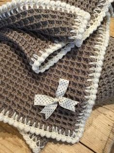 Waffle stitch blanket by Just Pootling