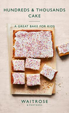 Hundreds and thousands sponge cake Yummy Treats, Delicious Desserts, Sweet Treats, Yummy Food, Fun Desserts, Tasty, Tray Bake Recipes, Baking Recipes, Dessert Recipes