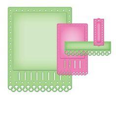 Spellbinders Nestabilities Card Creator A2 Fancy Ribbon Threader S5-135 FREE SHIPPING
