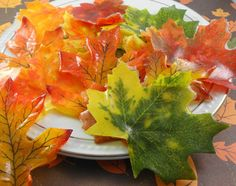 Soap  Fall Soap Leaves  Individual Silk Leaves Soaps by SoapGarden, $6.00