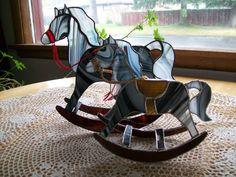 Stained glass zebra rocking horses I made.
