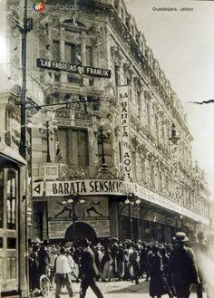 Tienda Las Fabricas de Francia Guadalajara, Jalisco hacia 1900-1930