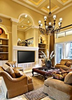 Look at those beautiful windows family room for Sater design homes for sale