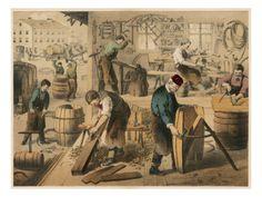 Workshop of a Cooper (Barrel Maker) Giclee Print