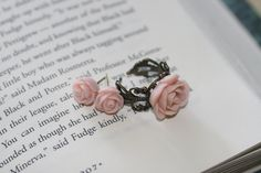 LOVE this pale pink ring/ earring set! $13