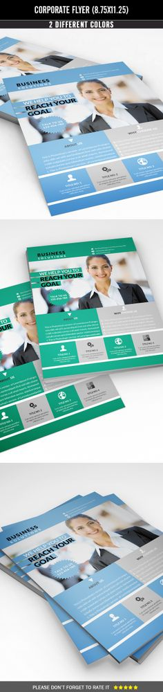 Corporate Flyer by MEHRO DESIGNS, via Behance