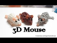 Rainbow Loom MOUSE/HAMSTER 3D. Designed and loomed by Elegant Fashion 360. Click photo for YouTube tutorial. 05/10/14.