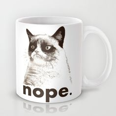 Why do I love grumpy cat so much?  By John Medbury (LAZY J Studios) on Society6.