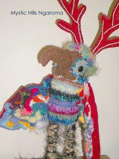 Fiber Art Doll  Fantasy Sculpture Nocturne by MysticHillsNgaroma, $280.00