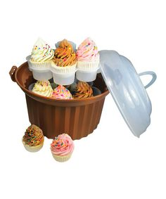 Take a look at this Brown Cupcake Carousel Carrier by Fox Run on #zulily today!
