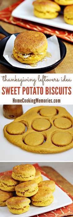Looking for Thanksgiving leftover recipes? This easy Sweet Potato Biscuits recipe uses leftover sweet potato casserole - even if you make it with marshmallows on top!