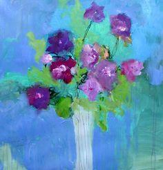 purple pansies 30 x 30 inch canvas wendy mcwilliams