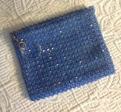 Vintage Blue Beaded 1960s Change Purse Makeup Bag by BarbeeVintage, $19.00