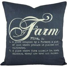 "Add a lovely touch to your sofa or loveseat with this chic cotton pillow, showcasing a typographic motif for eye-catching appeal. Handmade in the USA.    Product: PillowConstruction Material: Cotton and linen coverColor: Blue and whiteFeatures: Insert included Handmade by TheWatsonShop Envelope enclosureMade in the USA Dimensions: 16"" x 16""Cleaning and Care: Spot clean only"