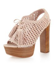 Pencey  Alexus Platform Sandal, Blush  $179.00