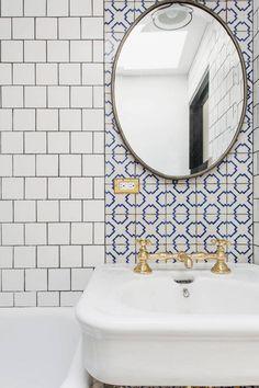 Elizabeth Roberts Bathroom in Warren Mews Townhouse