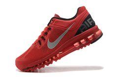 super popular e198b d6ba8 Nike Air Max + 2013 Running Homme (Totale Université Rouge Noir Argent)