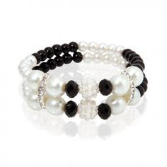 Pulsera Perlas Black Jewlery, Jewelry Making, Beaded Bracelets, Beads, Earrings, How To Make, Women, Jewelry Ideas, Random