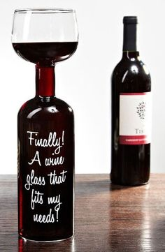 Giant Wine Bottle Wine Glass ♥
