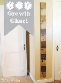 DIY Growth Chart Tutorial - Includes a link to buy vinyl for the markings if you don't want to paint it! www.classyclutter.net