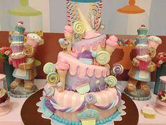 Candy Shoppe | CatchMyParty.com Birthday Candy, Baby Birthday, Birthday Ideas, Birthday Parties, Ice Cream Social, Candy Cakes, Candy Party, Candy Shop, Candyland