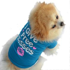 Dog Clothes,Beautyvan Cute Pet Puppy Summer Shirt Small Dog Cat Pet Clothes Vest T Shirt (M, Blue) *** You can find out more details at the link of the image.