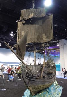 Pirates of the Caribbean Black Pearl movie miniature