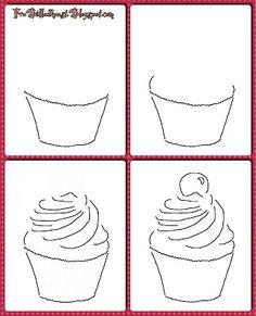 Fru Billedkunst - NY ADRESSE - www.FruBilledkunst.dk: cupcakes