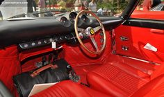 Sumptuous red leather for this ferrari 250 LM at Cavalino Ferrari F1, F1 Racing, West Palm Beach, Automobile, Cars, Unicorns, Classic, Red Leather, Sports