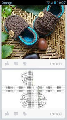 CROCHET BABY SHOES 80 Patrones para hacer zapatitos, botines y zapatillas de bebés en crochet (free patterns crochet sandals babies) Crochet Baby Sandals, Booties Crochet, Baby Girl Crochet, Baby Booties, Crochet Slippers, Crochet Shoes Pattern, Baby Shoes Pattern, Diy Crafts Crochet, Crochet Projects