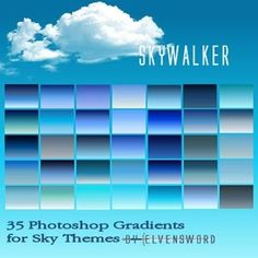 Photoshop styles and gradients - SkyWalker - 35 Photoshop Gradients for Sky Themes via myphotoshopbrushes.com