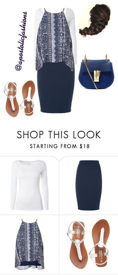 """Apostolic Fashions #1400"" by apostolicfashions on Polyvore featuring White Stuff, Glamorous and Chloé"