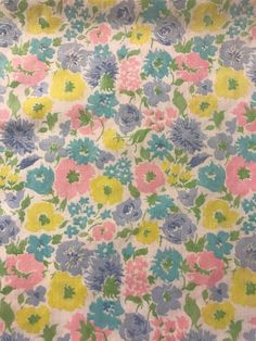 A personal favorite from my Etsy shop https://www.etsy.com/listing/541777653/vintage-sheet-fat-quarter-pink-blue-and