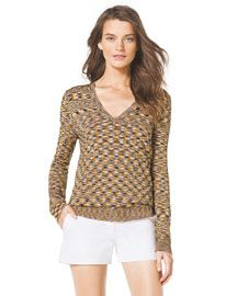 T8BY2 MICHAEL Michael Kors  Space-Dye Knit Top