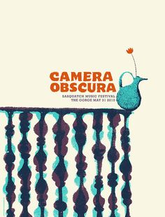 camera obscura band poster - sweet shapes, colors, so quirky