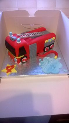 Fire engine cake l made.