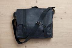 Satchel bag, gray/black leather bag, student backpack, crossbody bag, handbag, laptop bag, messenger bag, briefcase, fathers day gift