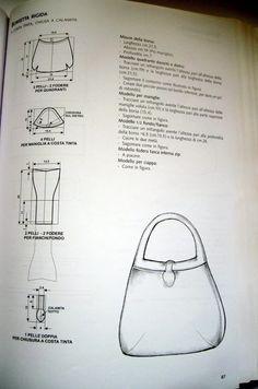 View album on Yandex. Leather Diy Crafts, Leather Bags Handmade, Leather Craft, Leather Purses, Leather Handbags, Drawing Bag, T Bag, Diy Handbag, Leather Pattern