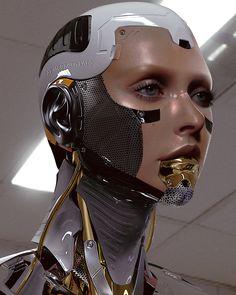 Anastasia Safonova by X MC : Marcelo Cantu Cyborg head sculpture by using Model Mua Rendered in + Inspo by the best + Cyberpunk Girl, Arte Cyberpunk, Cyberpunk Character, Cyberpunk 2077, Cyborg Girl, Female Cyborg, Human Cyborg, Photomontage, Arte Tech