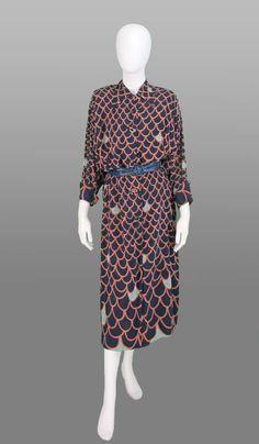 Vintage 1940s rayon day dress