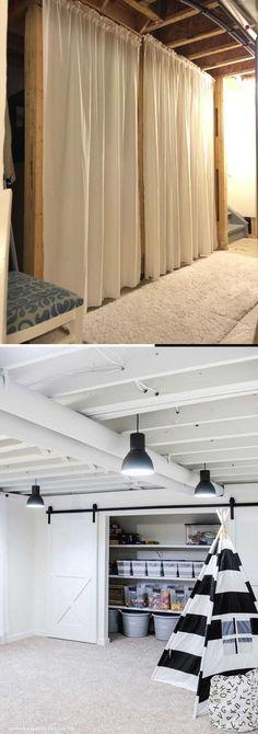 Dream Basement Remodeling & Renovation ideas - tips Before & After Ideas Basement Decorating, Basement Makeover, Basement Remodeling, Cheap Diy Home Decor, Diy Home Crafts, Rustic Stairs, Diy Ideas, Decor Ideas, Diy Decoration