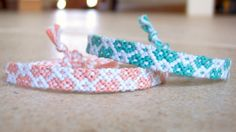 Diamond Friendship Bracelet pattern number 2589 - For more patterns and tutorials visit our web or the app!