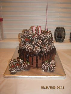 Chocolate Covered Strawberries Cake