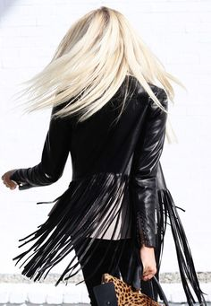 Shea Marie in a fringe leather jacket from ThePerfext