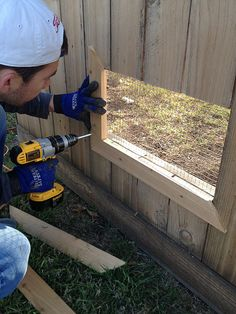 The Happy Homebodies: DIY Fence Windows for Dogs: Tutorial