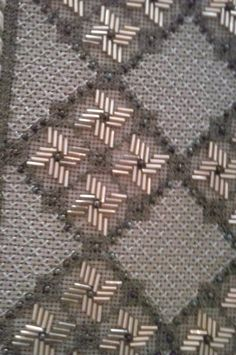Beaded Embroidery, Cross Stitch Embroidery, Embroidery Designs, Needlepoint Stitches, Needlework, Canvas Designs, Stitch Design, Filet Crochet, Needle And Thread