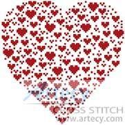 Valentine Heart - cross stitch pattern designed by Tereena Clarke. Category: Valentines.