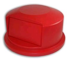 Rubbermaid FG264788 RED Plastic Brute Round Dome Top Lid Fits 44 Gal Container #Rubbermaid