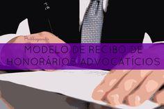 Modelo de Recibo de Honorários Advocatícios  Modelo simples de recibo de honorários advocatícios para valores em espécie, cheques ou depósitos bancários.  Veja o modelo:  #Recibo #Advocacia #Honorários